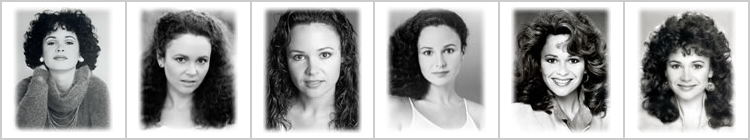 Theatrical headshots throughout the 70's and 80's